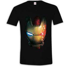 Marvel T-Shirt Iron Man Battle Damage Helmet. Hier bei www.closeup.de
