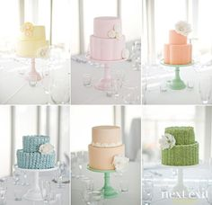Simple.  Pretty.  Cakes.