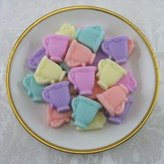 Pastel Mix Mini Teacup Shaped Sugar Cubes - 36 Pieces by Sugars by Sharon on Gourmly