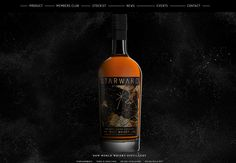 Creative Bottle, Whisky, Starward, and Packaging image ideas & inspiration on Designspiration Promotional Design, Malt Whisky, Bourbon Whiskey, Wine And Spirits, Bottle Labels, Web Design Inspiration, Distillery, Whiskey Bottle, Bourbon