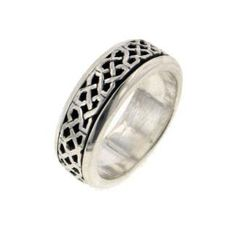 Sterling Silver Celtic Knot Worry Spin Ring