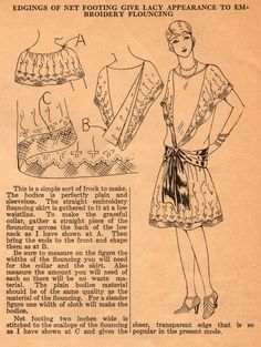 Home Sewing Tips from the 1920s: Make a Simple Frock with Lacy Flounces