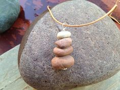 Rock stack necklace - Sedona red rock memories. $26.00, via Etsy.