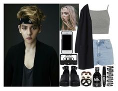 """""""BAEKHYUN"""" by evil-maknae ❤ liked on Polyvore featuring Tory Burch, Topshop, The WhitePepper and Rimmel"""