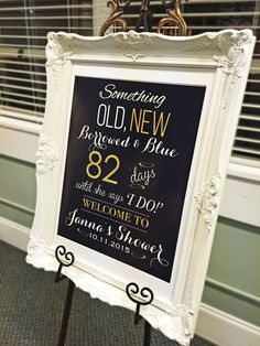 Bridal Shower Welcome Sign, Wedding Shower Decorations, Bridal Shower Gift Ideas, Engagement Party Decorations, Wedding Shower Ideas by AycockDesigns on Etsy https://www.etsy.com/listing/251580978/bridal-shower-welcome-sign-wedding