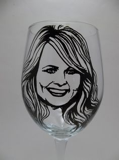Miranda Lambert, Hand painted wine glass, Country singer