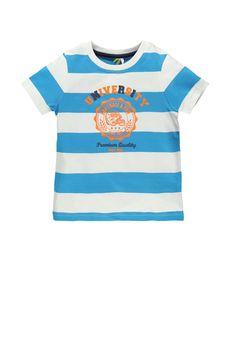 #Teeshirt à rayures #garçon avec print fantaisie - www.shop-orchestra.com