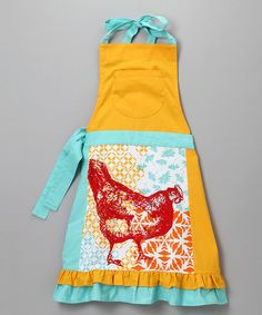 Funky Chicken Apron! I love zulily  - they have the best buys