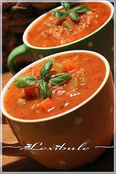 ~ Tomato and rice soup ~ I Grill, Long Grain Rice, Tomato Soup Recipes, Rice Soup, Zucchini Bread, Soups And Stews, Cooking Time, Fall Recipes, Meals