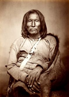 Satank was for many years the principal war chief of the Kiowas, leader of the Kiowa Dog Soldier Society. En route to his trial after being charged for taking part in the Warren Wagon Train Massacre in Texas, Satank sang his death song, slipped the handcuffs from his wrists, then attacked a guard with a knife. In the ensuing struggle, he was shot and killed. Subsequently, he was interred at Fort Sill's military cemetery.