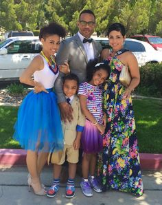 Mimi G. and her lovely family. My Black Is Beautiful, Beautiful Family, Black Love, Beautiful People, Mixed Families, Black Families, Family Photo Outfits, Family Photos, Cute Family