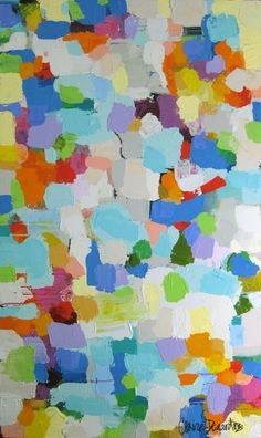 if you had the right color mix, let each kid come up and make a square until the canvas is covered