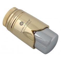 """Schlösser Thermostatkopf """"Brilliant"""" M30 x 1,5 Heimeier gold/chrome 6002 00009"""