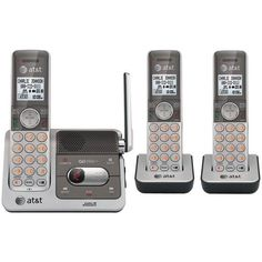 ATT CL82301 DECT 6.0 Cordless Phone System with Talking Caller ID & Digital Answering System (3-Handset System)