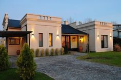 55 Trendy House Design Classic Home House Front Design, Modern House Design, Plans Architecture, Architecture Design, Villa, Style At Home, Casa Mix, Future House, My House