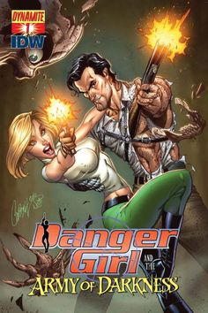 Danger Girl and The Army of Darkness #1 Cover by J.Scott Campbell