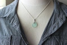 Mermaids Tail or Whale Tail Seafoam green by BeachCoveJewelry