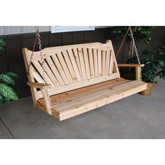 A & L FURNITURE CO. Western Red Cedar 6' Fanback Swing