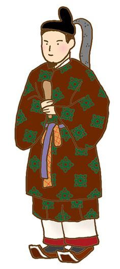 The formal outfit of Japanese of Nara era emperor.