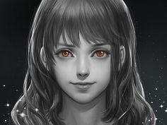 Pixiv Id 1417939, ONE PIECE, Nami (ONE PIECE), Spot Color, Realistic, Dark Background