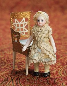 Home At Last - Antique Doll and Dollhouses: 18 French All-Bisque Mignonette in Original Costume