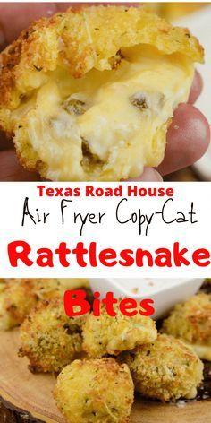 Air Fryer Recipes Appetizers, Air Fryer Oven Recipes, Air Frier Recipes, Air Fryer Dinner Recipes, Yummy Appetizers, Easy Dinner Recipes, Easy Meals, Easy Appetizer Recipes, Rattlesnake Bites