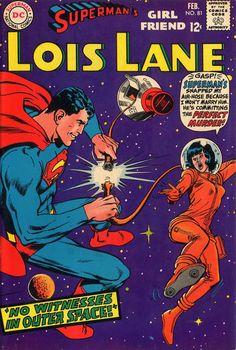 Superman Man of Steel Lois Lane Romance DC Comics Covers Superheroes Superhero Old Comic Books, Vintage Comic Books, Vintage Comics, Comic Book Covers, Superman Comic, Superman Kids, Superman Family, Batman, Silver Age Comics