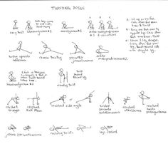 Project Rainbow: Cool Yoga Poses (Stick Figures) Vinyasa Yoga Poses, Restorative Yoga Poses, Yoga Sequences, Yoga Poses Names, Cool Yoga Poses, Yoga Stick Figures, Yoga Detox, 30 Day Yoga, Yoga Anatomy