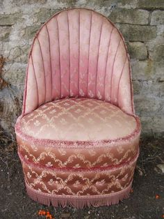 Vintage Pink Bedroom Chair