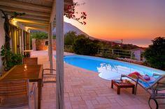 Villa in Kefalonia Luxury Holidays, Luxury Villa, Luxury Living, Villas, Greece, Island, Bedroom, Places, Outdoor Decor