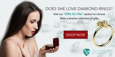 Does she love rings? What if you could get her a diamond ring that would put celebrities to shame? Check out attractive rings at reasonable prices @ http://www.zomint.com/gifts/gift-for-her.html & set out to make her swoon!