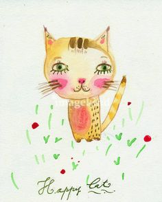 """""""Kitty Cat"""" by Paola Zakimi, Villa Giardino // Imagekind.com – Buy stunning, museum-quality fine art prints, framed prints, and canvas prints directly from independent working artists and photographers."""