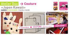 Rrose selavy » Atelier DUO [parent+enfant] Couture «Japon Kawaii» | samedi 7 novembre Kawaii, Couture, Family Guy, Parenting, Fictional Characters, Atelier, November, Tricot, Child