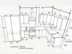 Standard Kitchen Dimensions And Layout - Engineering Discoveries - Kitchen Ideas Kitchen Cabinet Dimensions, Kitchen Cabinet Design, Modern Kitchen Design, Interior Design Kitchen, Kitchen Cabinets, Kitchen Layout Design, Home Decor Kitchen, Kitchen Furniture, Kitchen Ideas