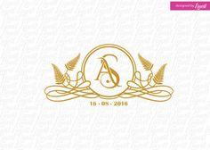 Exotic wedding logoluxury logo-wedding crest-custom by Linvit