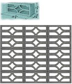 Mid Century Decorative Concrete Screen Block   Modern Design