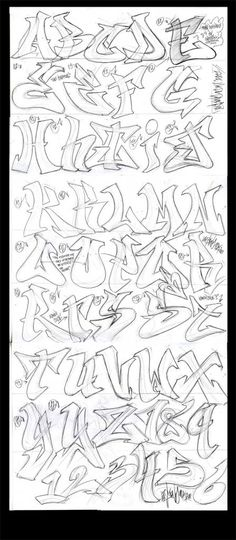 Graffiti Burner Alphabet Graffiti Alphabet090111