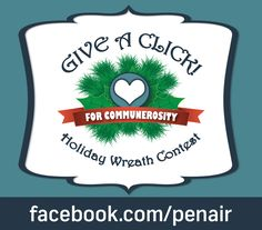 Have you voted for your favorite wreath today? Competition is getting stiff! #Communerosity #GiveAClick
