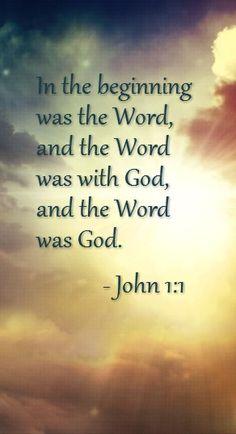 Amen (in Japanese:ヨハネの福音書1:1 初めに、ことばがあった。ことばは神とともにあった。ことばは神であった。)