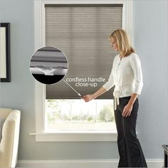 This light filtering cellular shade offers quality and style, but will also give your home extra insulation. Keep kids and pets safe with our cordless lift system. It can be raised or lowered with a finger, and has no dangling cords.