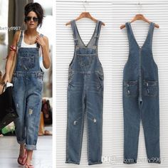 2016 2016 New High Waist Jeans Overalls Denim Jumpsuits Pants Woman Fashion Lady Female Rompers Big Size Trousers Jeans Ukraine From Betty9907, $31.86 | Dhgate.Com