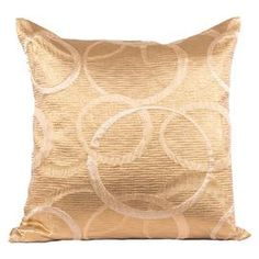 Pairing warm neutrals with a simple circles motif, this chic pillow adds eye-catching style to your sofa or chaise.Product: PillowConstruction Material: 100% Polyester coverColor: NeutralFeatures: Insert includedCleaning and Care: Machine wash cold on gentle cycle. Lay flat to dry.