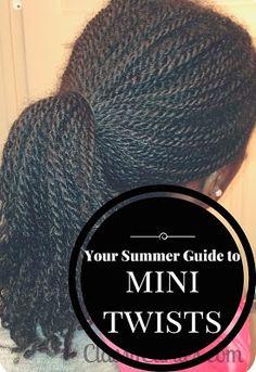 Summer guide to mini twists.  ClassyCurlies.com.