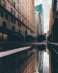 """Downtown Reflections"" 