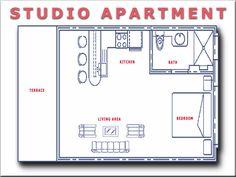 small studio apartment floor plans. Studio Apartment Floor Plans Efficiency Apartment Floor Plans Small Studio  Garage