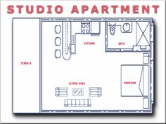 1000 images about floorplans on pinterest apartment for Studio apartment floor plans pdf