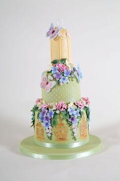 Rustic Floral Fantasy Cake by RosesandBowsCakery Beautiful Cupcakes, Gorgeous Cakes, Pretty Cakes, Amazing Cakes, Macaron Cake, Cupcake Cakes, Super Cool Cakes, Cake Design Inspiration, Fantasy Cake