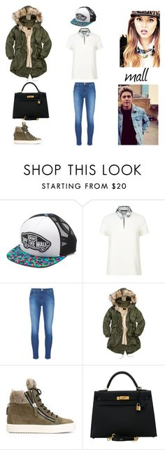 """6.2"" by ronniebenett ❤ liked on Polyvore featuring Vans, Maje, J Brand, CREAM, Giuseppe Zanotti and Hermès"