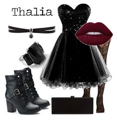 """""""Thalia Grace - AouCA"""" by hellynivoeh ❤ liked on Polyvore featuring Ippolita, Apt. 9, Fallon and Edie Parker"""