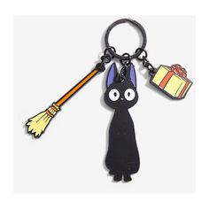 Studio Ghibli Kiki's Delivery Service Key Chain BoxLunch ($8.50) ❤ liked on Polyvore featuring accessories, long key chains, key chain rings, keychain key ring, ring key chain and ghibli